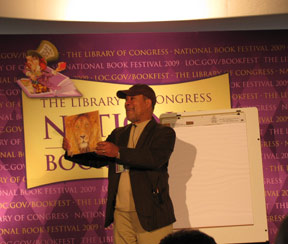 Jerry Pinkney with his latest book